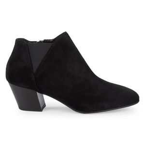 🌸 AQUATALIA Farrell Suede Stacked Heel Ankle Boot